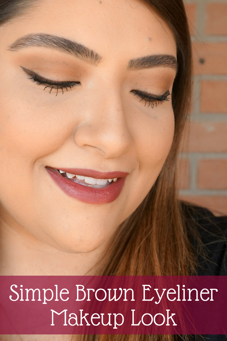Easy Brown Eyeliner Makeup Look / / Beauty With Lily - A West Texas Beauty, Fashion & Lifestyle Blog