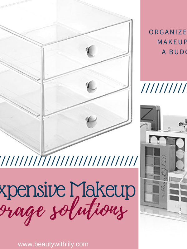 Inexpensive Makeup Storage Solutions // Makeup Storage | Beauty With Lily