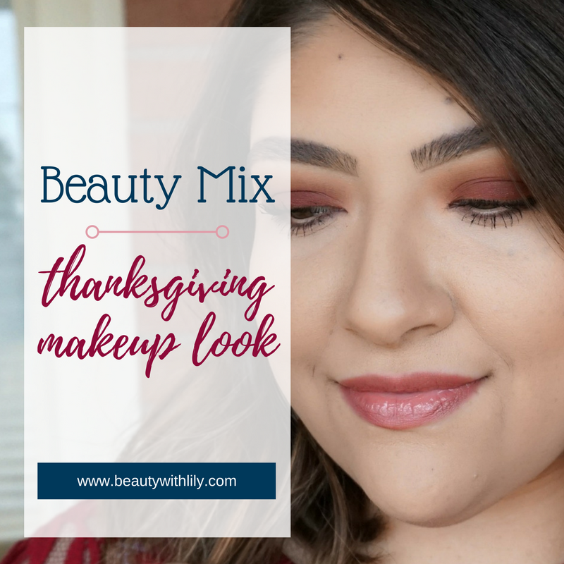 Simple Maroon Makeup Look // Easy Thanksgiving Makeup Look | Beauty With Lily, A West Texas Beauty, Fashion & Lifestyle Blog