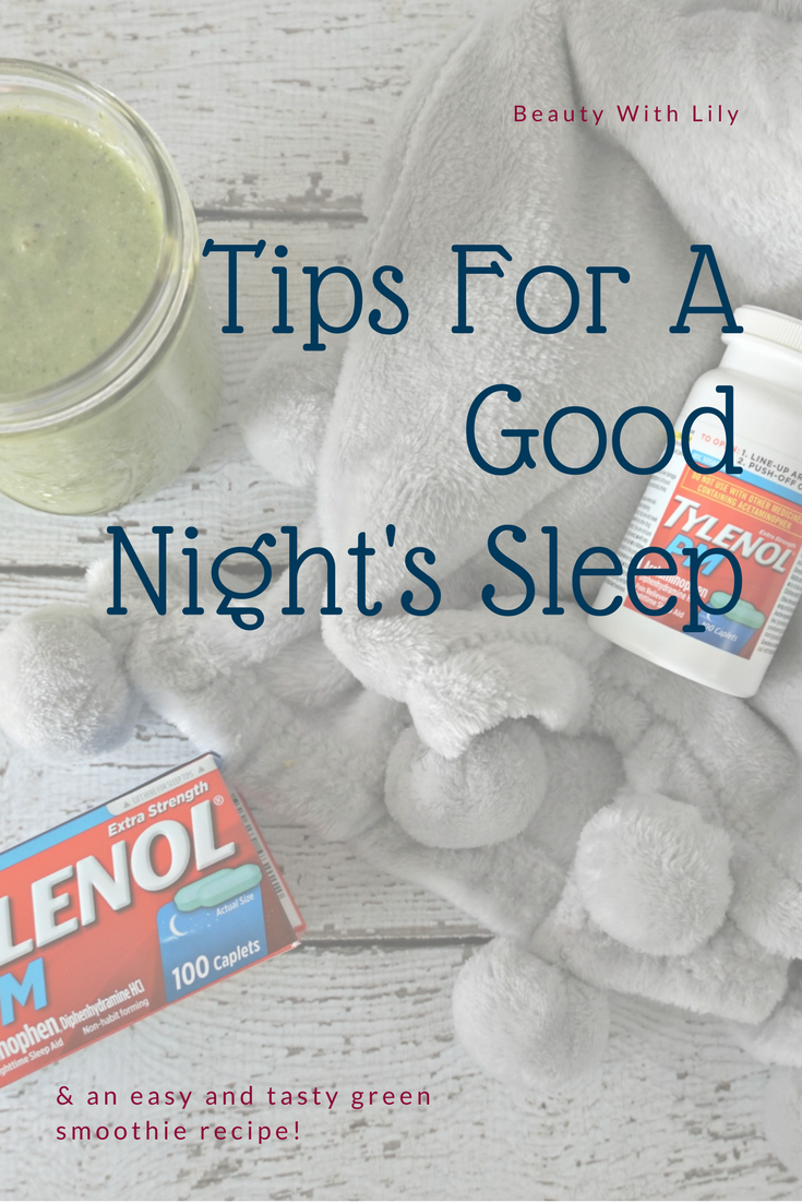 Tips For A Good Night's Sleep and Easy & Tasty Green Smoothie Recipe // Beauty With Lily #ad #ForBetterTomorrows #FallBack