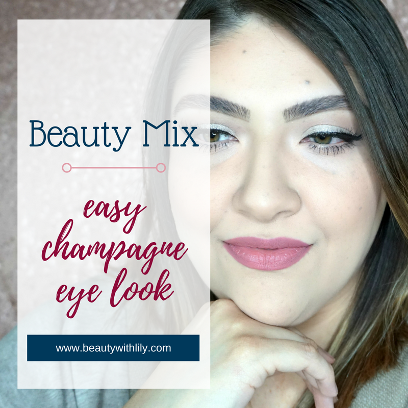 Easy Champagne Eye Look // Beauty With Lily #beautyblogger #eyelook