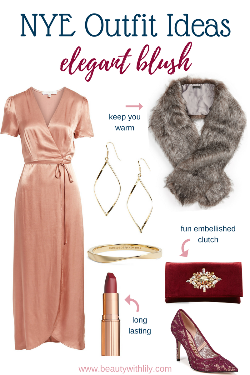 New Years Eve Outfit Ideas // Elegant Blush Outfit | Beauty With Lily #nyeoutfit #fashionblogger