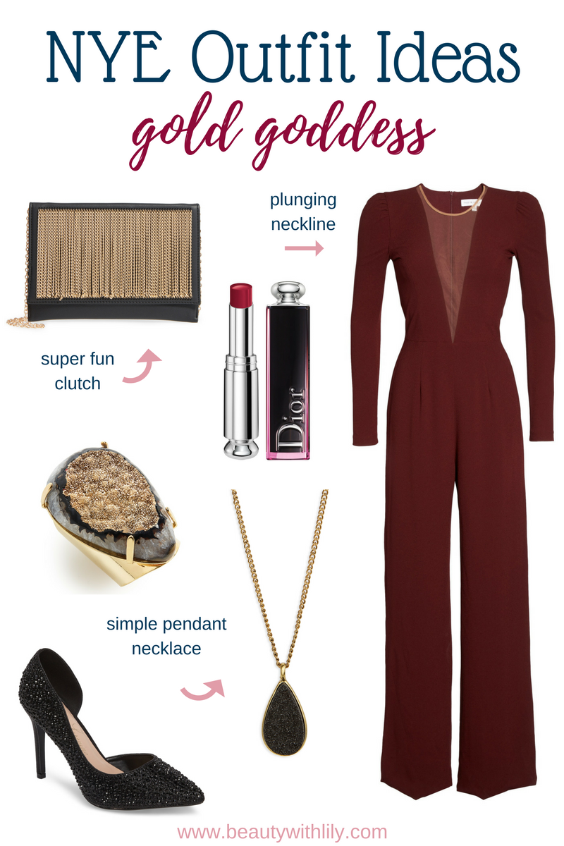 New Years Eve Outfit Ideas // Jumpsuit Outfit | Beauty With Lily #nyeoutfit #fashionblogger