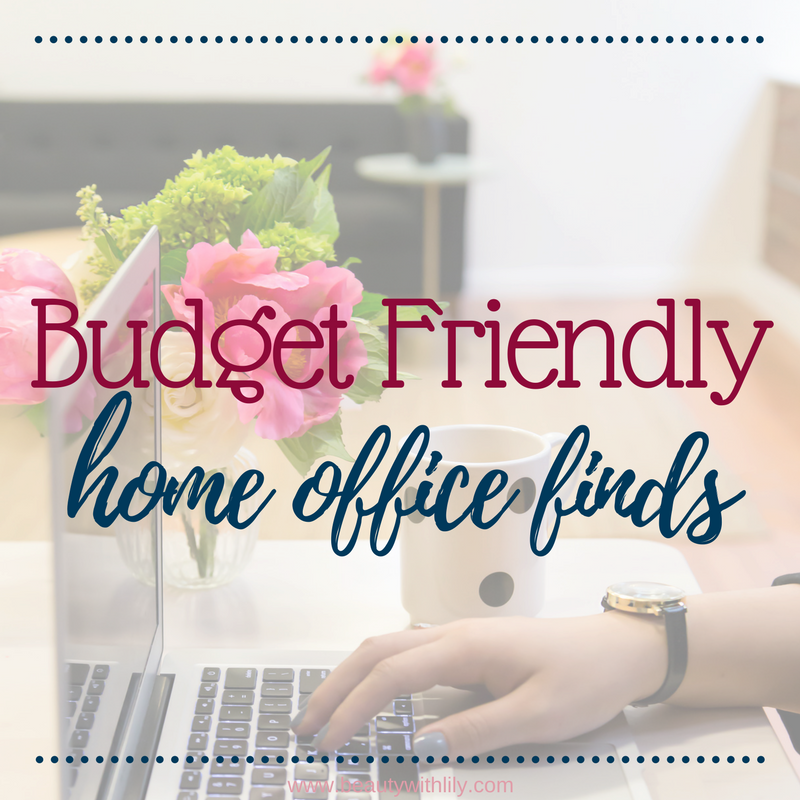 Affordable Home Office Finds | Home Office Ideas | Home Office Decor | Beauty With Lily #lifestyleblogger #homedecor