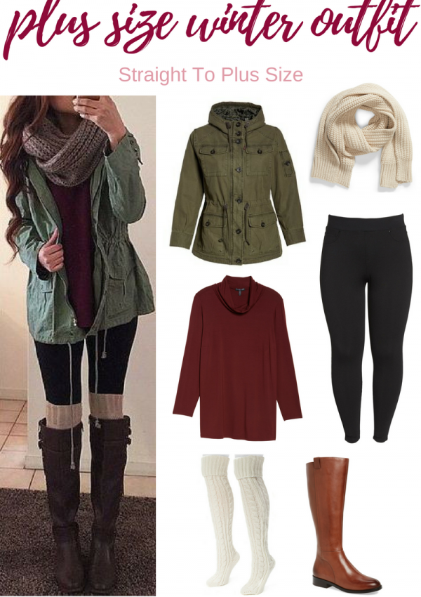 Straight To Plus Size Winter Outfits