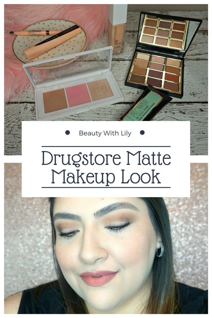 Drugstore Matte Makeup Look // Full Face Drugstore Makeup // Affordable Makeup Look // Simple Matte Makeup Look | Beauty With Lily #beautyblogger #drugstoremakeup
