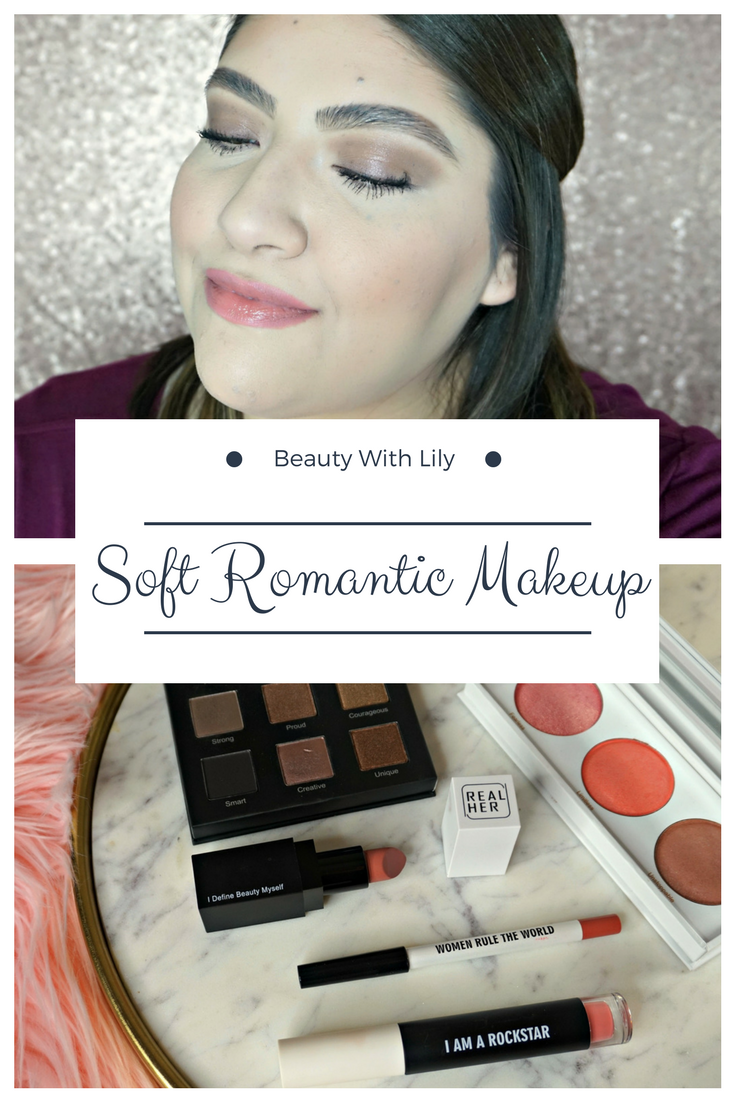 Soft Romantic Makeup Look | Valentine's Day Makeup | Beauty With Lily #beautyblogger #easymakeup #beautywithlily