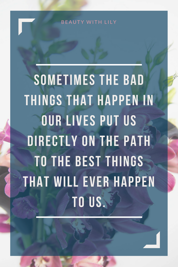 The Not So Good Days // Bad Days Quote | Beauty With Lily #infertility #quote #beautywithlily