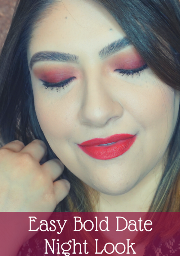 Easy Bold Date Night Makeup Look // Easy Makeup Look // Bold Makeup Look // Date Night Makeup | Beauty With Lily #beautyblogger #makeuplook #easymakeup #datenightmakeup
