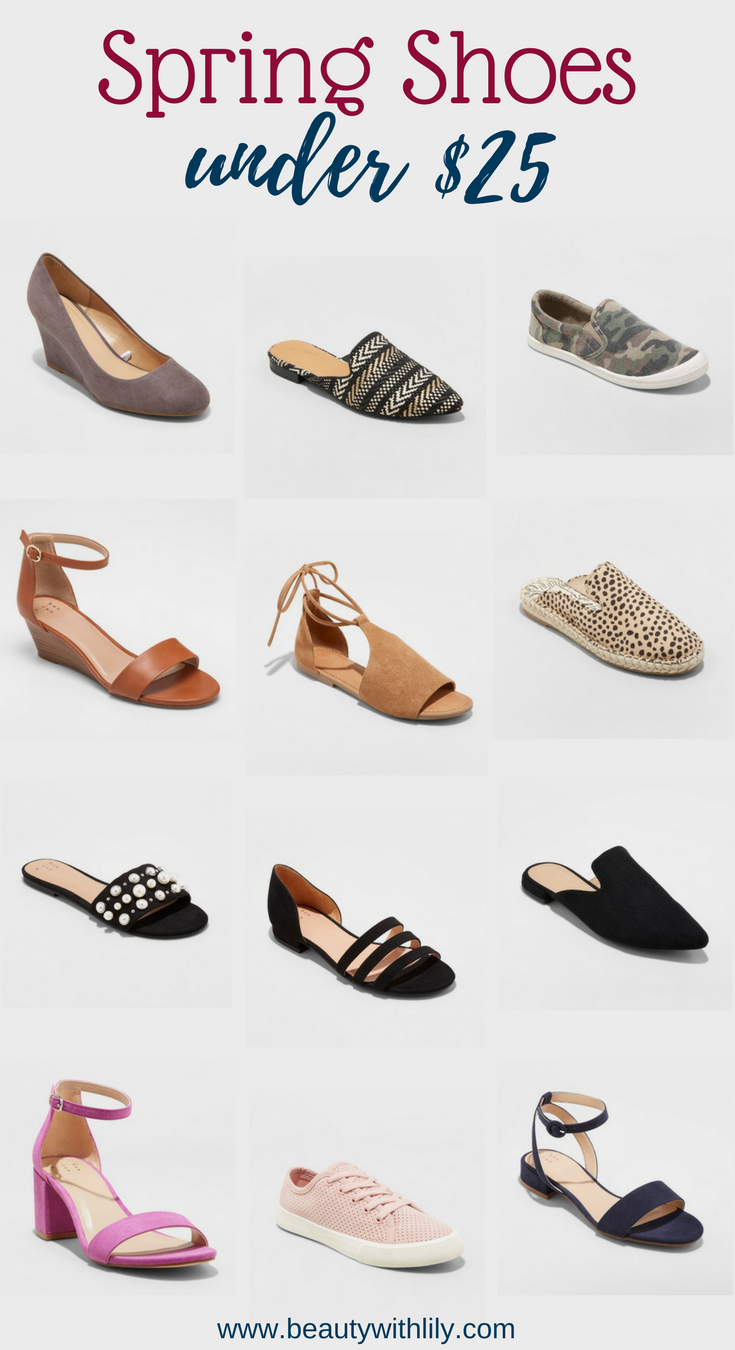 Affordable Spring Shoes // Shoes Under $25 // Cheap & Cute Shoes // Summer Shoes   Beauty With Lily #fashionblogger #shoelove