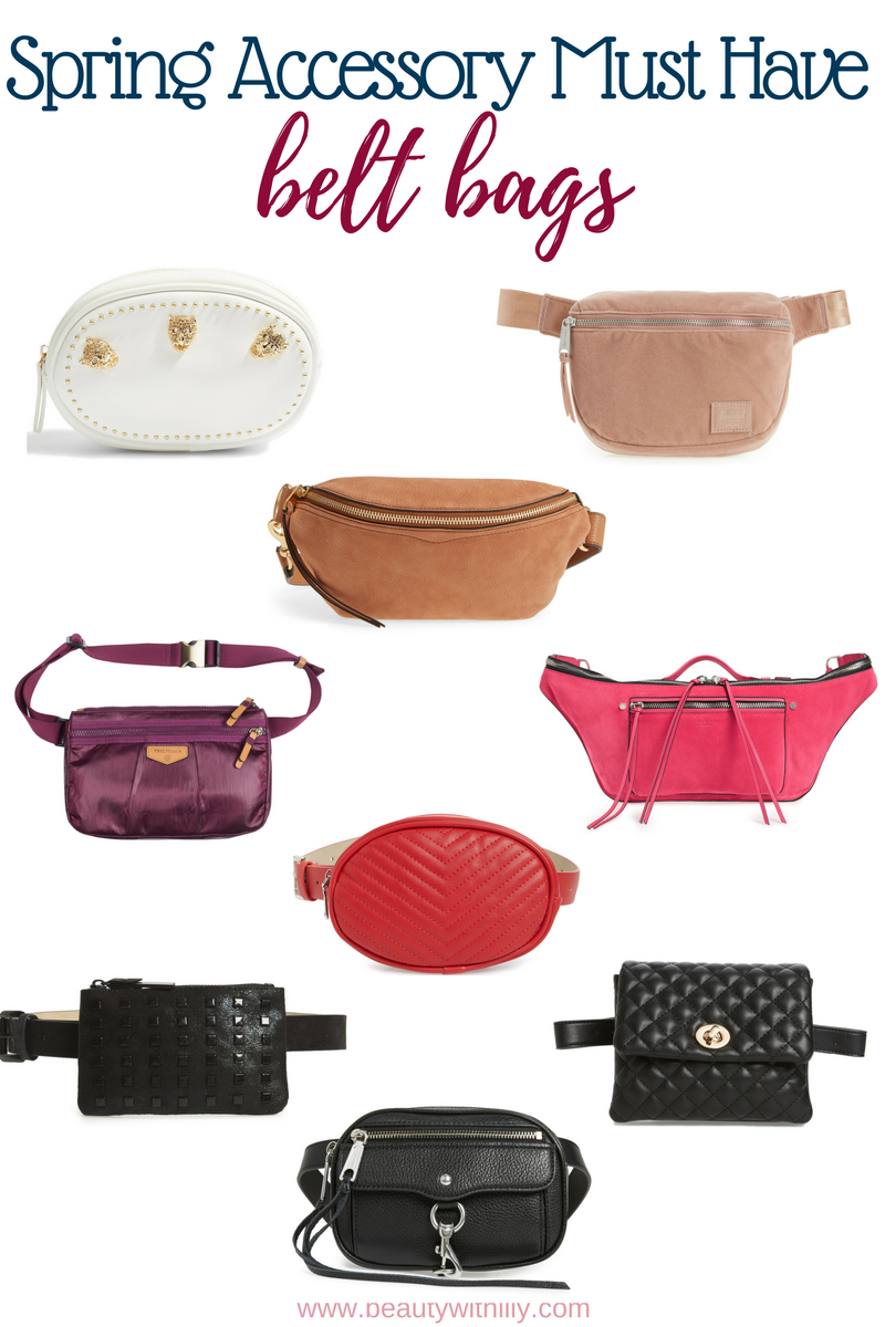 Must Have Spring Accessories // Spring Essentials // Spring Fashion // Summer Fashion // Belt Bags | Beauty With Lily