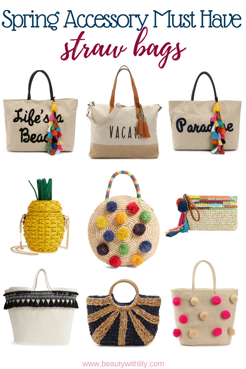 Must Have Spring Accessories // Spring Essentials // Spring Fashion // Summer Fashion // Straw Bags | Beauty With Lily