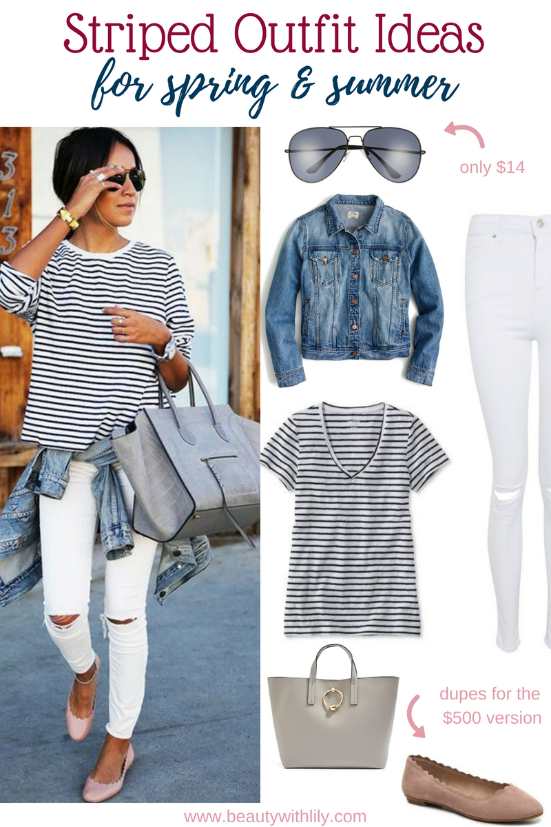 Striped Outfit Ideas // Casual Spring Outfit Ideas // Spring Fashion // Summer Fashion // Casual Outfits | Beauty With Lily #springfashion #summerfashion #casualoutfit