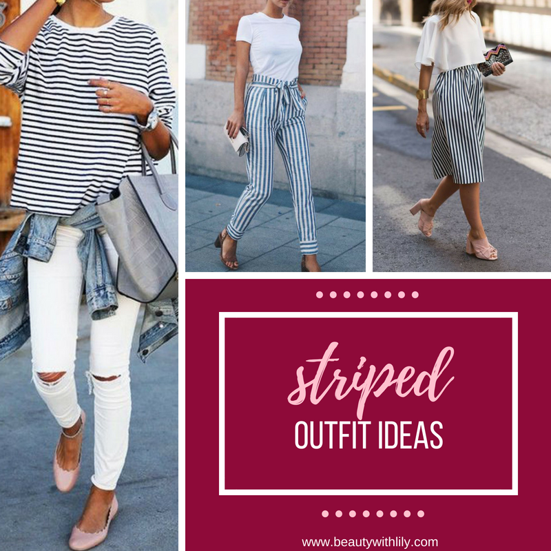 Striped Outfit Ideas // Casual Spring Outfit Ideas // Spring Fashion // Summer Fashion // Casual Outfits | Beauty With Lily #springfashion #summerfashion