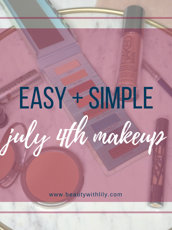 July 4th Makeup Look // 4th of July Makeup Inspiration // Simple Makeup Look // Easy Makeup Look | Beauty With Lily #makeuplook #beautyblogger