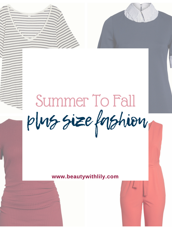 Summer To Fall Plus-Size Fashion
