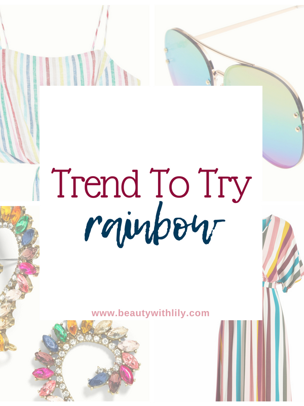 Rainbow Trend // Trend To Try // Summer Fashion Trends // Fall Fashion Trends // Rainbow Clothing Pieces | Beauty With Lily