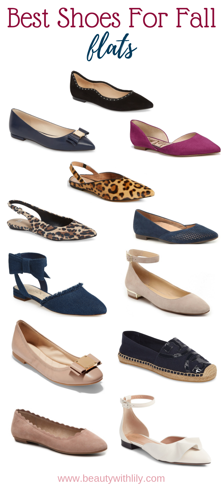 Best Shoes For Fall // Best Flats For Fall // Best Flats // Shoes For Fall // Comfortable Shoes // Cute Flats | Beauty With Lily