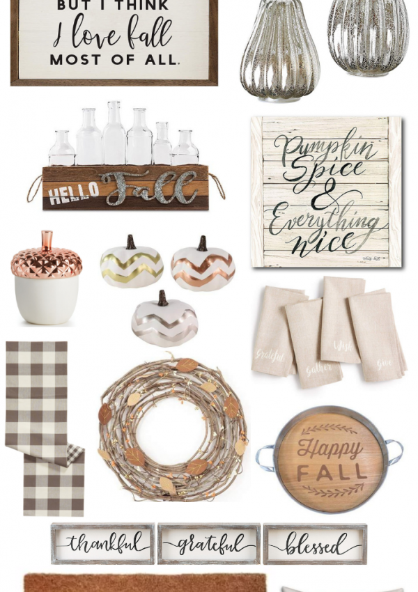 Neutral Fall Home Decor // Fall Home Decor // Fall Decor Ideas // Fall Decor Inspiration | Beauty With Lily