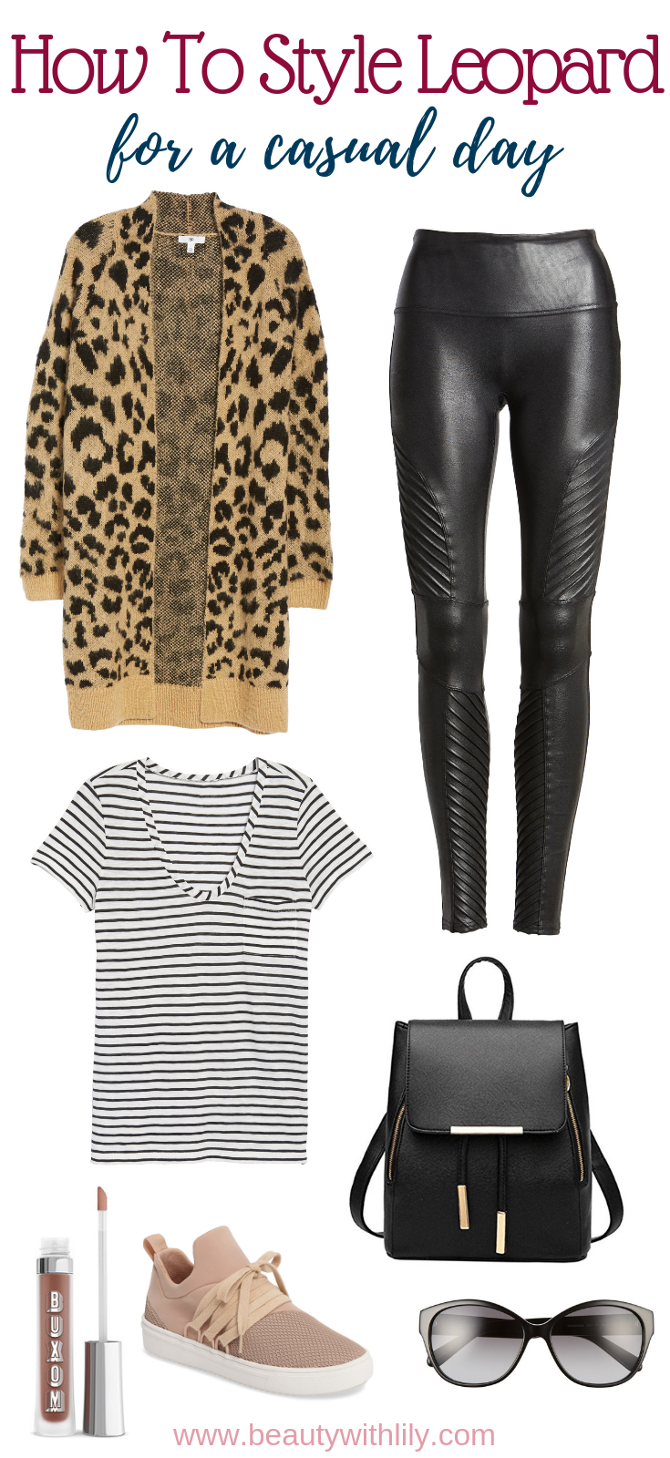 Leopard Print Outfit Ideas // Casual Leopard Print Outfit // How To Style Leopard Print // Fall Outfit Ideas // Fall Fashion | Beauty With Lily