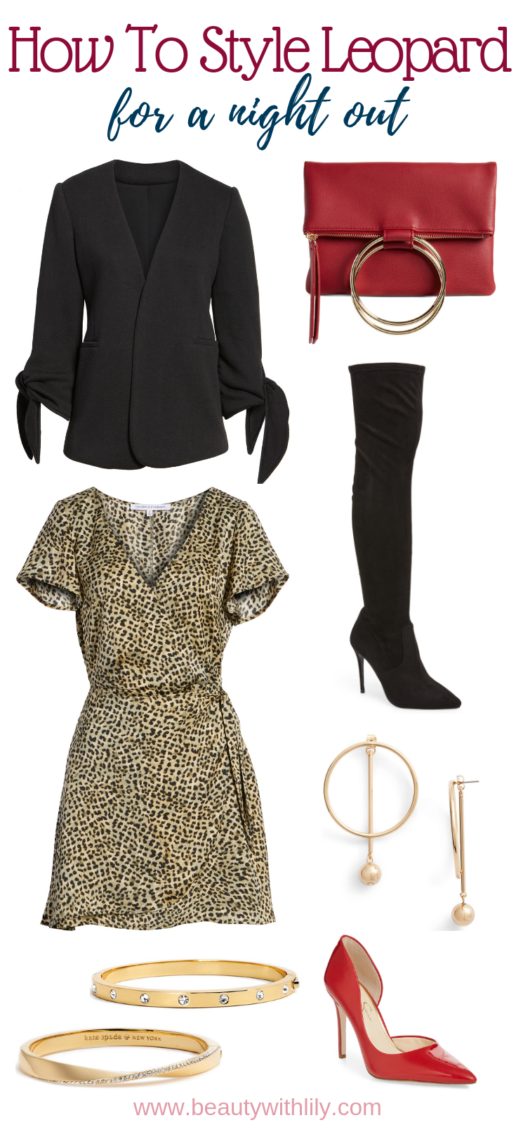 Leopard Print Outfit Ideas // Night Out Outfit // Party Outfit // How To Style Leopard Print // Fall Outfit Ideas // Fall Fashion | Beauty With Lily