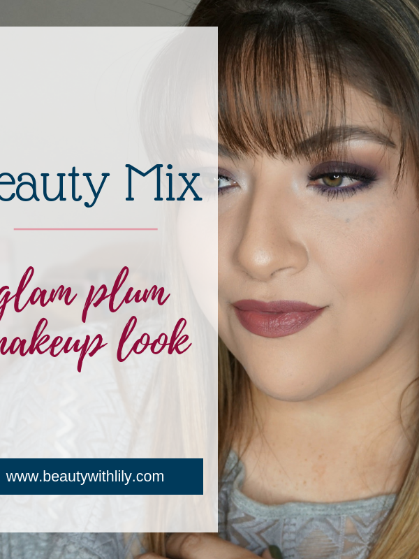 Plum Makeup Look // Glam Makeup Look // Plum Eye Look // Purple Eye Makeup // Plum Lipstick // Mauve Makeup // Fall Makeup Look // Winter Makeup Look | Beauty With Lily
