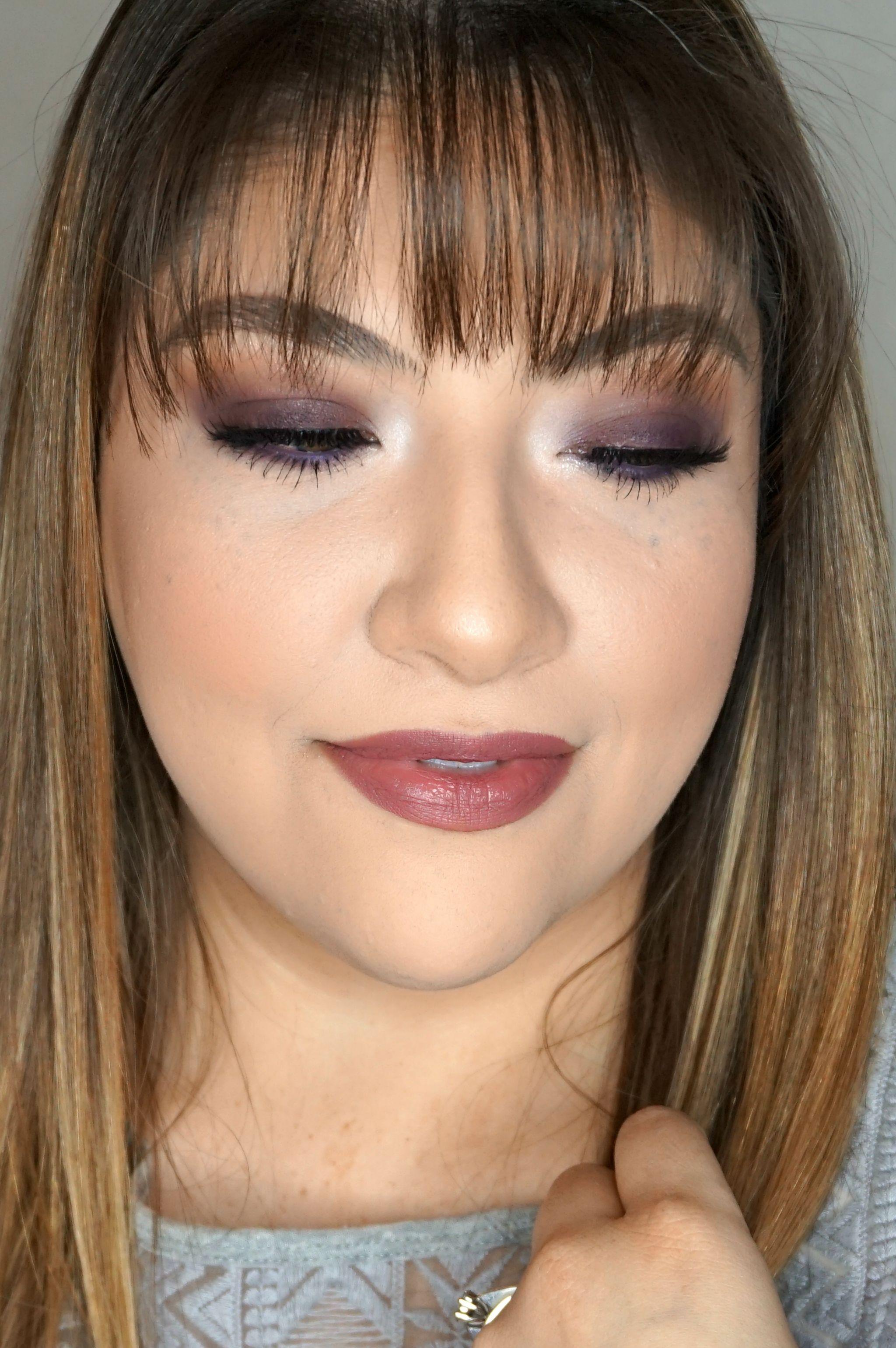 Plum Makeup Look // Glam Makeup Look // Plum Eye Look // Purple Eye Makeup // Plum Lipstick // Mauve Makeup // Fall Makeup Look // Winter Makeup Look | Beauty With Lily