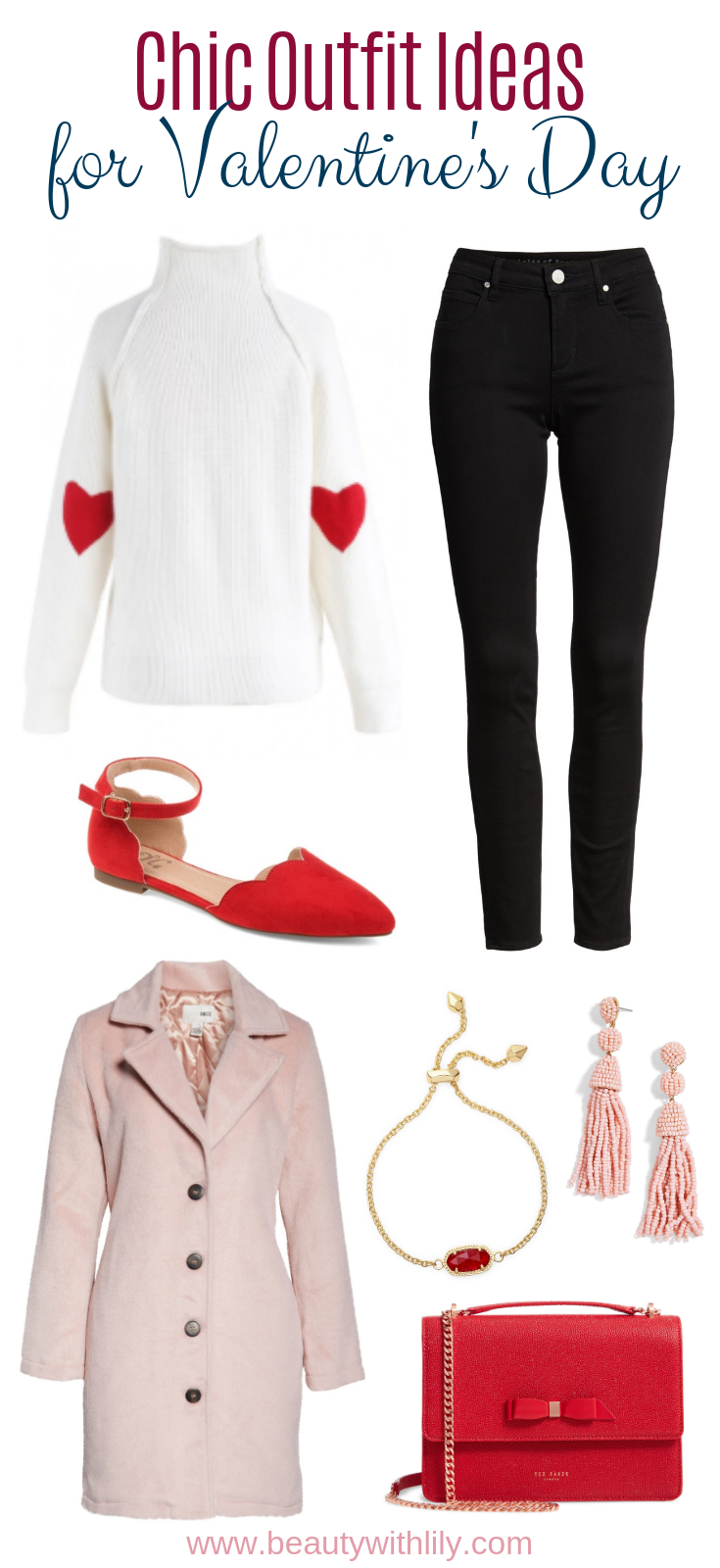 Chic Valentine's Day Outfit Ideas // Girly Outfit Ideas // Winter Outfit Ideas // Fashion Inspiration // Valentine's Day Fashion | Beauty With Lily | #fashionblogger #valentinesdayfashion #outfitinspiration