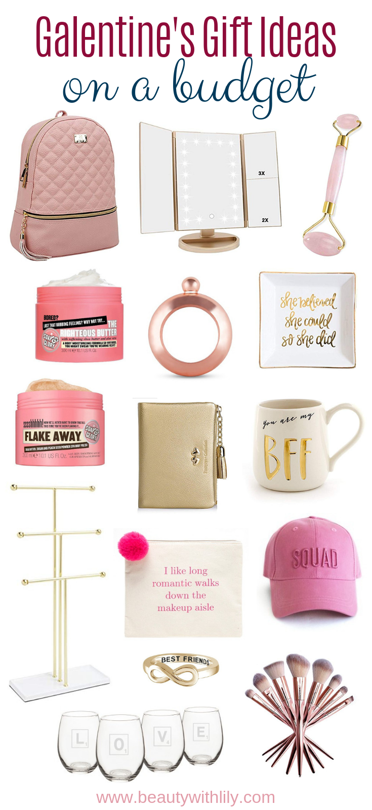 Affordable Galentine's Gift Ideas // Valentine's Day Gift Ideas For Her // Affordable Valentine's Day Gift Ideas // Gift Ideas For Her // Galentine's Day | Beauty With Lily | #valentinesday #giftsforher #galentinesday