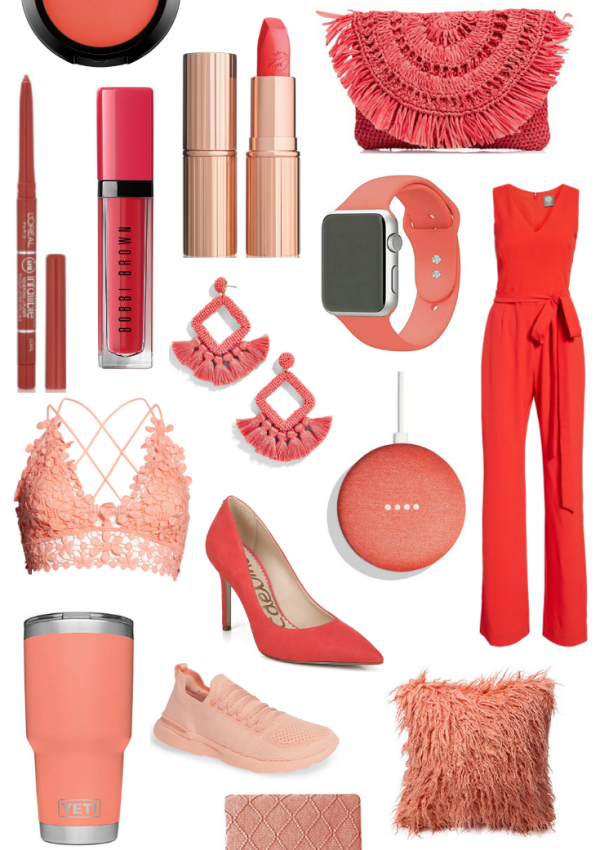 Living Coral Trend // 2019 Pantone Color of the Year // Coral Fashion Trends // Spring Fashion // Summer Fashion // Coral Home Decor // Vibrant Home Decor | Beauty With Lily