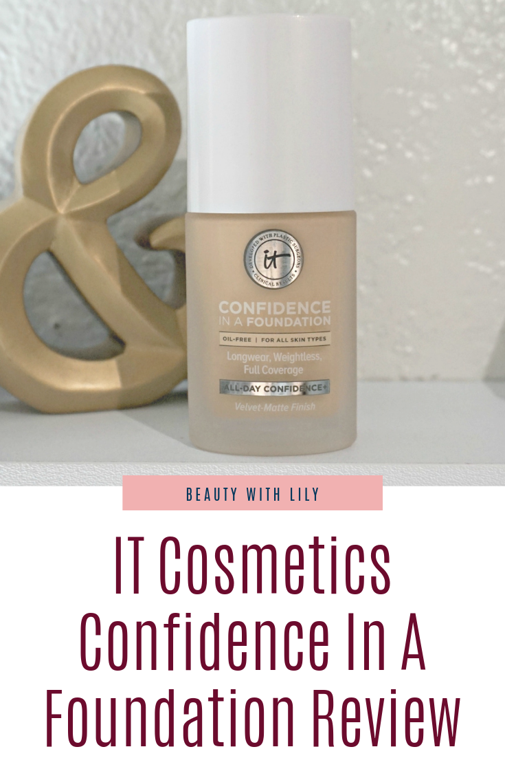 IT Cosmetics Confidence In A Foundation Review // Full Coverage Makeup | Beauty With Lily
