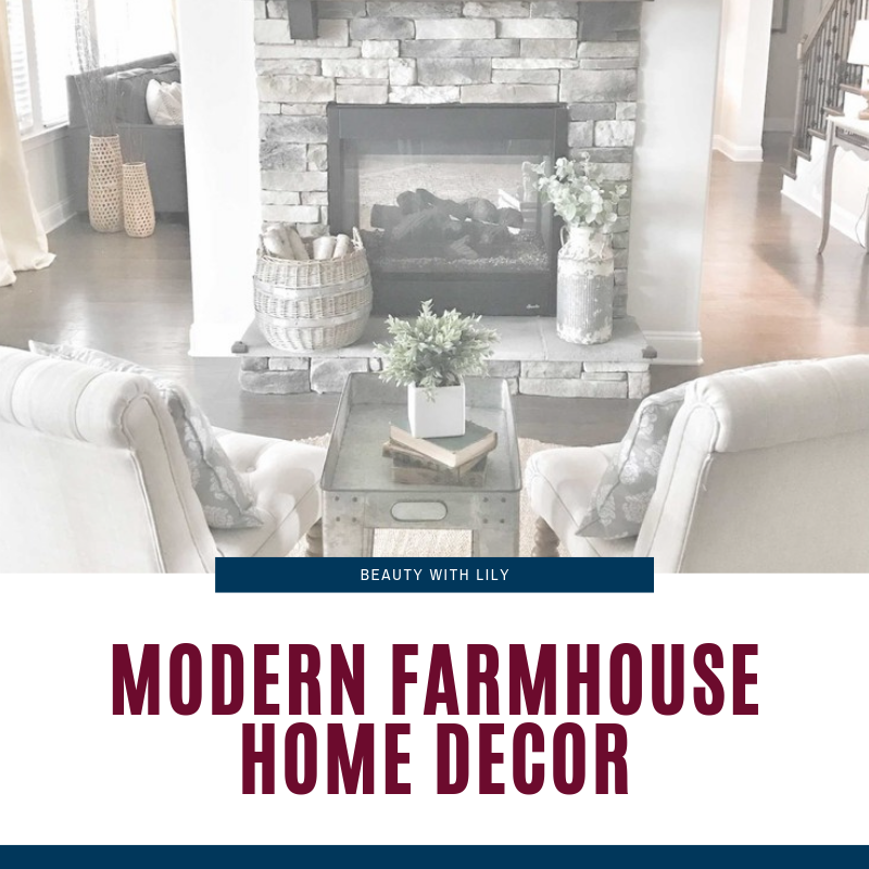Modern Farmhouse Home Decor Inspiration // Farmhouse Home Decor // Glam Farmhouse Inspiration // Home Decor Tips // How To Style // Rustic Home Decor // Glam Home Decor // Affordable Home Decor // Amazon Home Decor Finds | Beauty With Lily