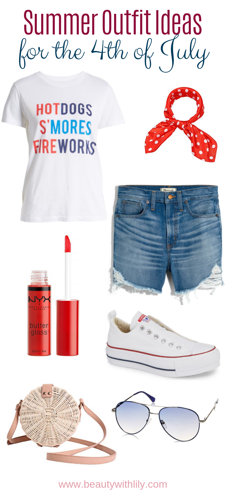 4th of July Outfit Inspiration // July 4th Fashion // Red White & Blue Outfits // Patriotic Outfit Ideas // Summer Outfit Ideas | Beauty With Lily