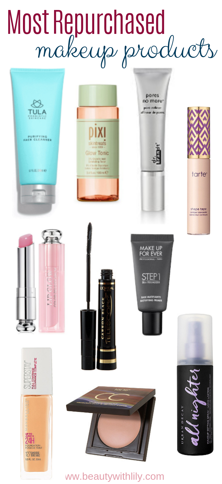 Most Repurchased Makeup Products // Holy Grail Makeup Products | Beauty With Lily