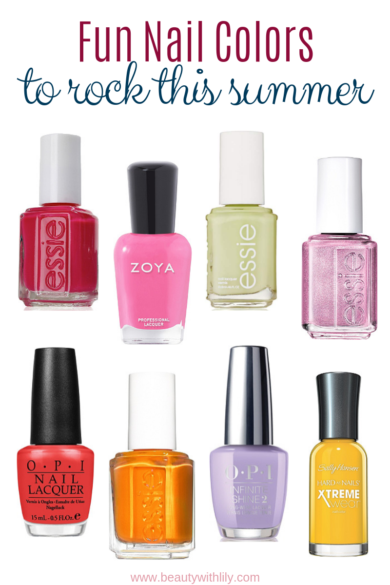 Trending Summer Nail Colors // Nail Polishes for Spring and Summer | Beauty With Lily