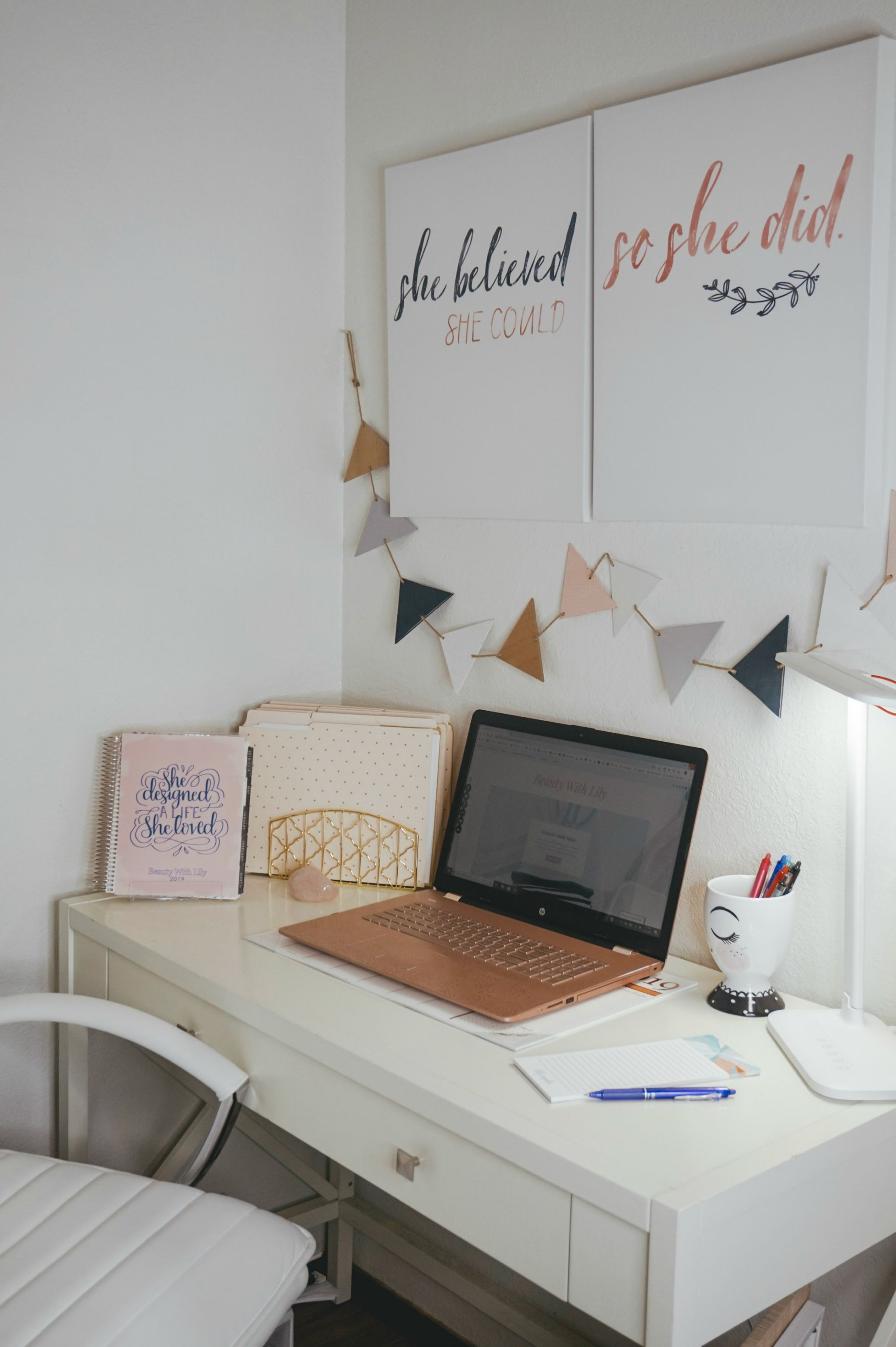 Small Office Space Ideas Organization Beauty With Lily