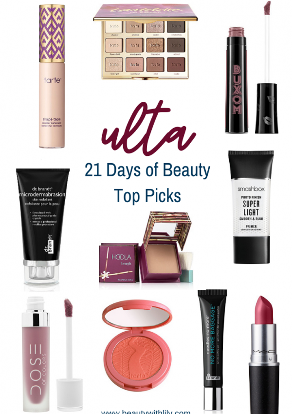 Ulta 21 Days of Beauty Top Picks