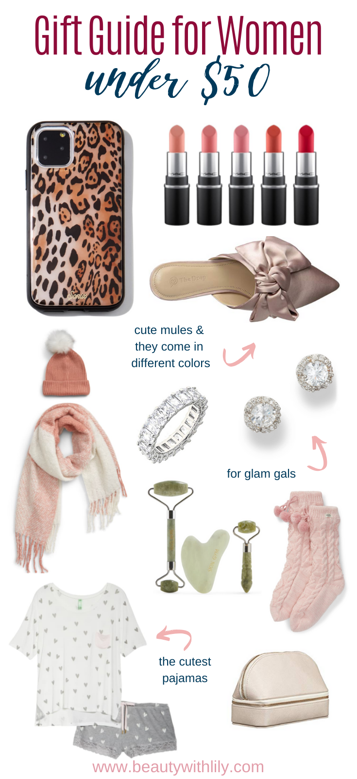 Gift Guide for Women // Gift Ideas for Her // Affordable Gifts for Women // Stocking Stuffers for Women // Christmas Gift Ideas // Gifts Under $100 // Gifts Under $50 // Gifts for All Budgets   Beauty With Lily