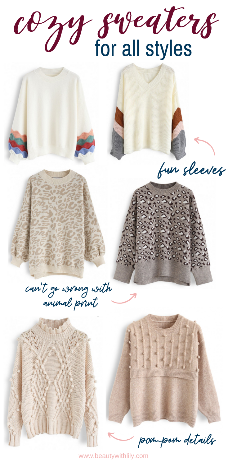 Best Sweaters for Fall // Sweater Weather Fashion // Fall Fashion Ideas // Best Oversized Sweaters // Winter Fashion // Cozy Outfit Ideas // Cozy Sweaters | Beauty With Lily