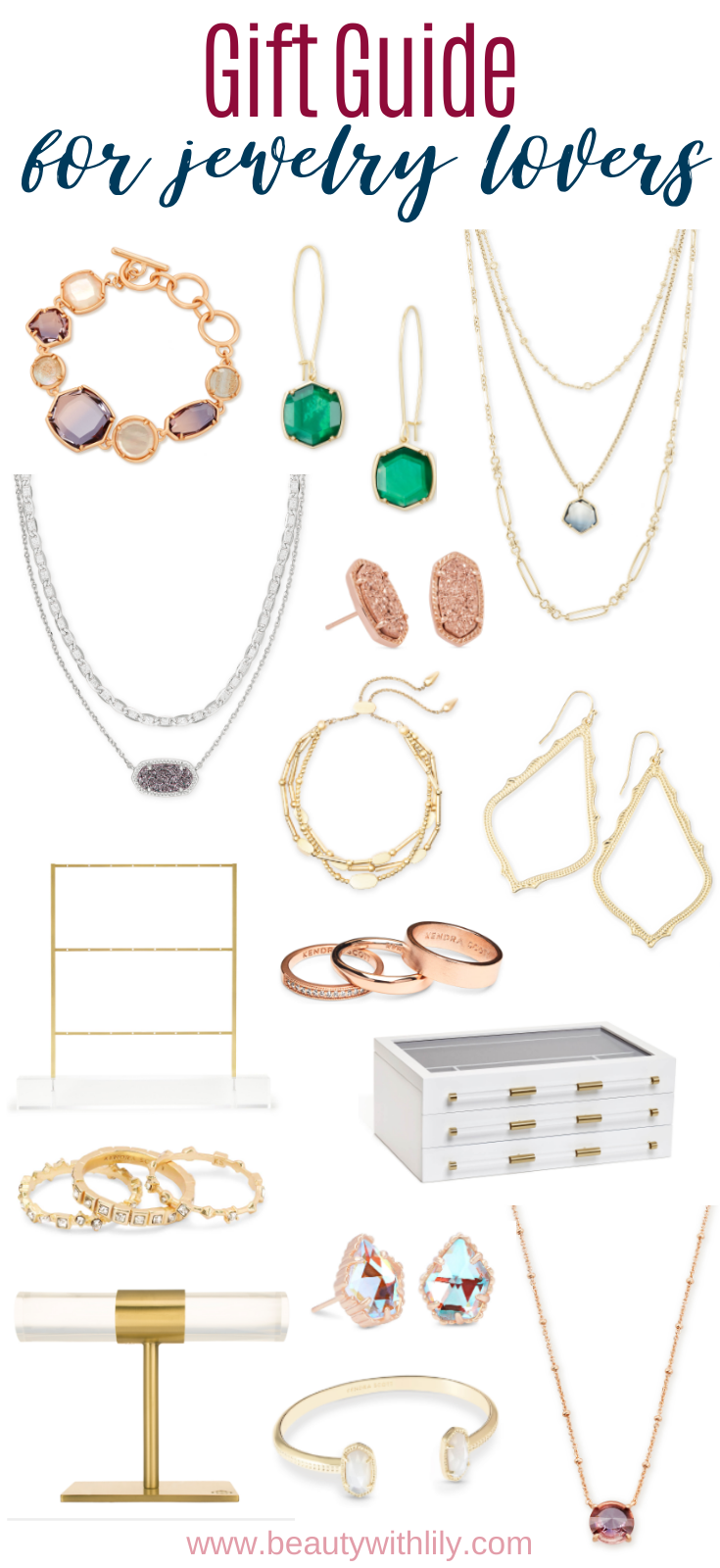 Gift Guide for Jewelry Lovers // Kendra Scott Jewelry // Accessories // Glam Accessories // Dainty Jewelry // Affordable Jewelry // Costume Jewelry // Christmas Gift Ideas // Gift Ideas for Her // Women Gift Guide | Beauty With Lily