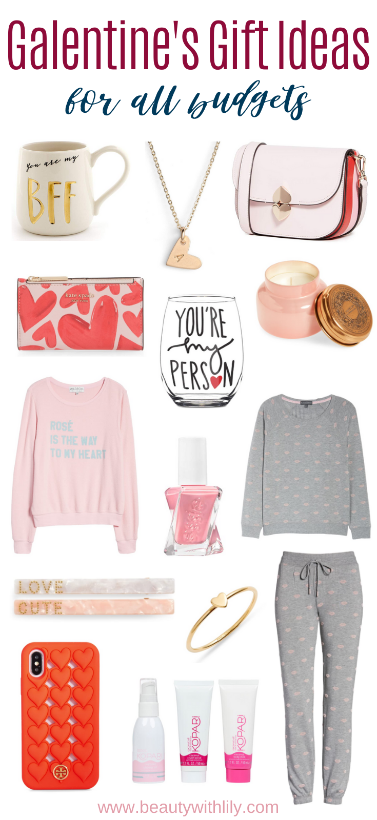 Galentine's Gift Ideas // Valentine's Day Gift Ideas For Her // Sweet Gifts for Her // Affordable Best Friend Gift Ideas // Gifts for Friends | Beauty With Lily #giftsforher #valentinesday #giftideas