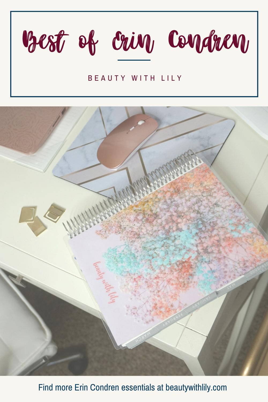 Erin Condren Favorites // Erin Condren Essentials // Planner Essentials // How To Get Organized // Planner Hacks // Hacks to Get Organized // Planning 101 | Beauty With Lily #erincondren #planninghacks #organization