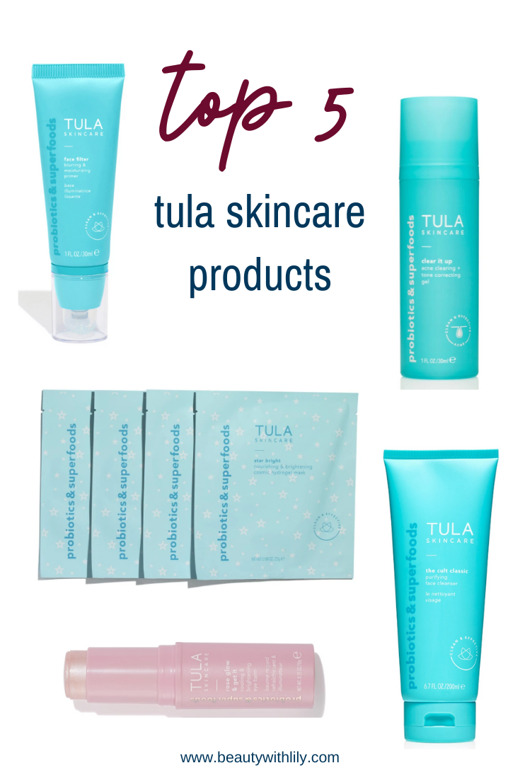 Top 5 Tula Skincare Products // Affordable Skincare Products // Skincare Routine // Skincare for All Skin Types // Probiotic Skincare // Cruelty-Free Skincare // Natural Skincare Products // Skincare Tips & Tricks | Beauty With Lily #tulaskincare #cruelyfree #skincaretips
