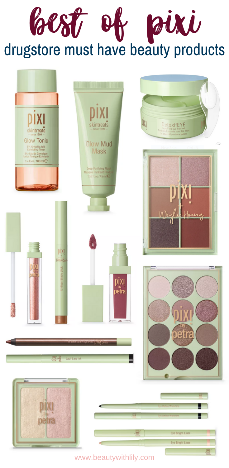Best of Pixi // Pix by Petra // Best Drugstore Makeup Products // Best Drugstore Skincare Products // Affordable Makeup // Affordable Skincare // Target Beauty Must Haves | Beauty With Lily #drugstorebeauty #pixibypetra #targetmusthaves