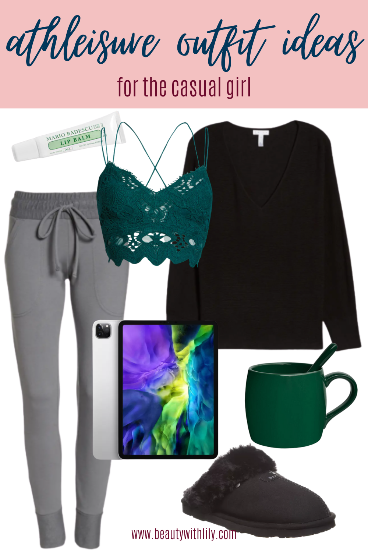 Athleisure Outfit Ideas // Women's Fashion // Fall Fashion for Women // Summer to Fall Fashion // Cute Loungewear Outfits // Cozy Loungewear Ideas // Work From Home Outfits // Chic Loungewear Outfits | Beauty With Lily