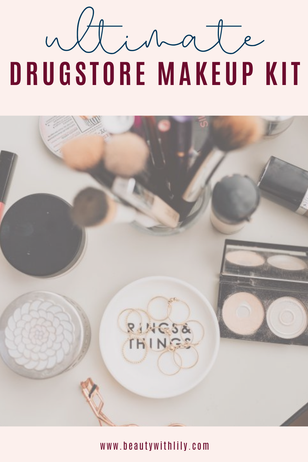 Ultimate Drugstore Makeup Kit // Makeup Starter Kit // Drugstore Makeup // Affordable Makeup // Best Drugstore Makeup | Beauty With Lily #drugstoremakeup #startermakeupkit